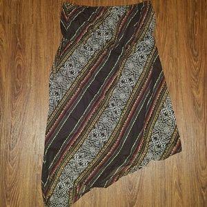 New $70 Lane Bryant Sz 18/20 Strapless Boho Dress